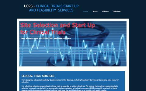 Screenshot of Home Page startupandfeasibility.com - clinical trials feasibility and start up - captured Oct. 3, 2014