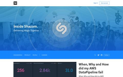 Screenshot of Blog shazam.com - Inside Shazam - captured Oct. 18, 2017