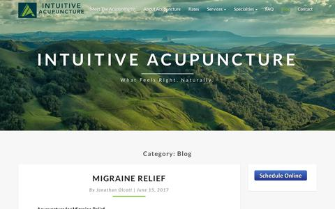 Screenshot of Blog intuitive-acupuncture.com - Blog - Intuitive Acupuncture - captured Sept. 19, 2018