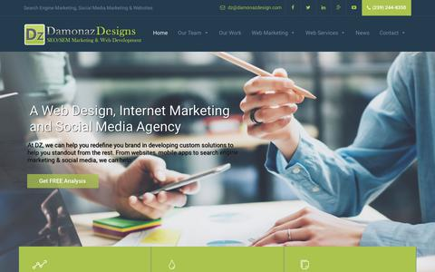 Screenshot of Home Page damonazdesign.com - Naples SEO | Fort Myers SEO | Social Media Digital Marketing Agency - captured Oct. 7, 2018