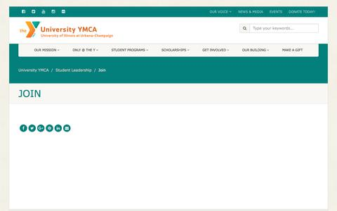 Screenshot of Signup Page universityymca.org - Join – University YMCA - captured Feb. 10, 2018
