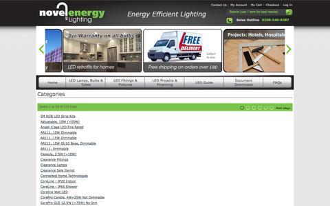 Screenshot of Site Map Page novelenergylighting.com - Site Map - captured Oct. 6, 2014