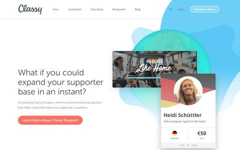 Screenshot of Home Page classy.org - A modern online fundraising platform for nonprofits |Classy - captured Jan. 12, 2018