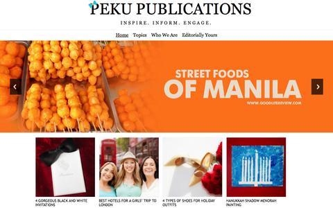 Screenshot of Home Page pekupublications.com - PeKu Publications- Inspire. Inform. Engage. - captured Dec. 3, 2015