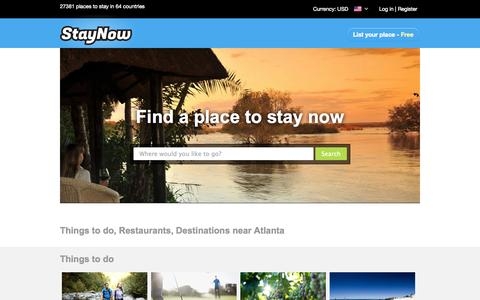 Screenshot of Home Page staynow.com - South Africa Accommodation | Largest Accommodation Booking Site in Africa, 21360 establishments! - captured Sept. 19, 2014