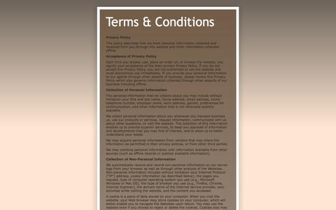 Screenshot of Terms Page coldblink.com - Terms & Conditions - captured Sept. 30, 2014