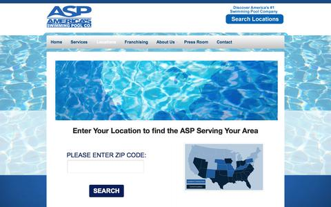 Screenshot of Locations Page asppoolco.com - ASP Swimming Pool Franchise Locations | America's Swimming Pool Company - captured Oct. 4, 2014