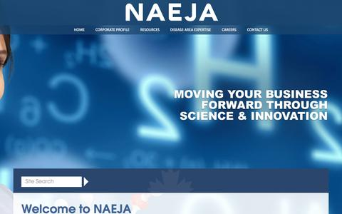 Screenshot of Site Map Page naeja.com - NAEJA Pharmaceutical Inc. | Home - captured Aug. 12, 2015
