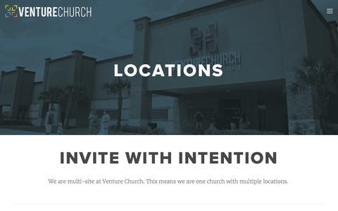 Screenshot of Locations Page venturechurch.org - LOCATIONS — Venture Church - captured June 10, 2017