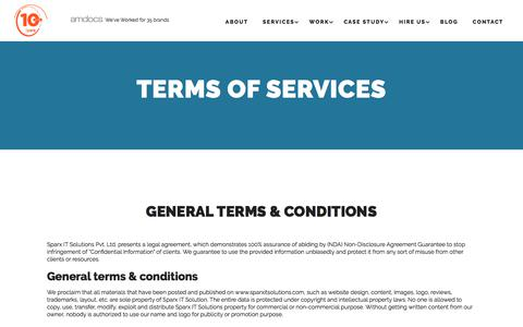 Terms of services- Sparx IT Solutions