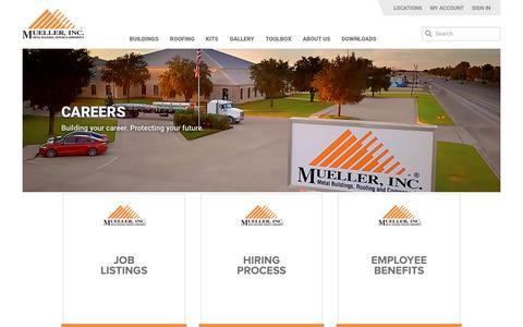 Screenshot of Jobs Page muellerinc.com - Careers - Mueller, Inc - captured Nov. 7, 2018
