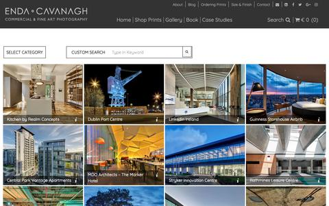 Screenshot of Case Studies Page endacavanagh.com - Architectural Photographer | Interior Photographer - captured Sept. 28, 2018