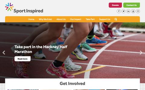 Screenshot of Home Page sportinspired.org - SportInspired - captured March 15, 2019