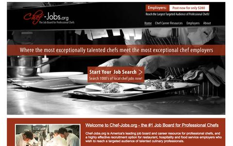 Screenshot of Home Page chef-jobs.org - Chef-Jobs.org - Chef Jobs and Career Resources for Professional Chefs - captured Oct. 2, 2014
