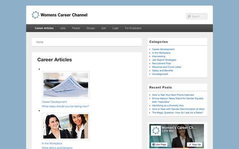 Screenshot of Blog womenscareerchannel.com - Career Articles - WCC Blog - captured Jan. 17, 2016