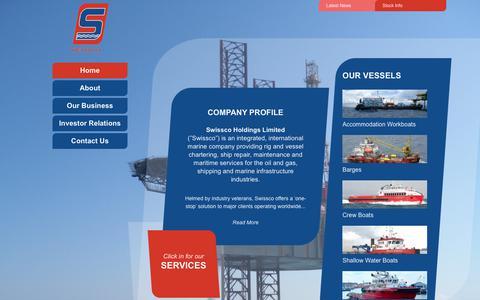 Screenshot of Home Page swissco.net - Swissco Holdings Limited - captured Oct. 26, 2017