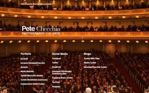 Screenshot of Home Page petesart.com - pete-checchia - captured Sept. 27, 2018