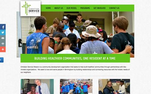 Screenshot of Home Page csmission.org - Home - captured Oct. 2, 2014