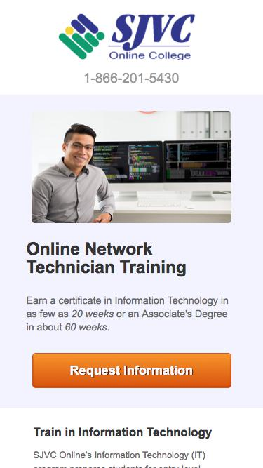 Train to Become an Network Technician