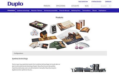 Screenshot of Menu Page duplointernational.com - Duplo Product Range | Digital Printing Machines | Duplo International | Duplo International - captured Dec. 1, 2018