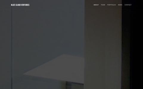 Screenshot of About Page bluecloudventures.com - About |  Blue Cloud Ventures - captured Oct. 29, 2014