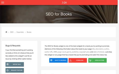 SEO for Books | Essentials | Free Adobe Muse Widget