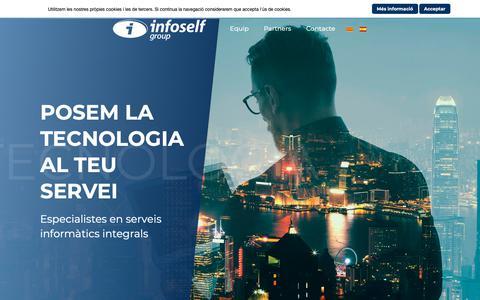 Screenshot of Home Page infoself.com - Inici - Infoself Group - captured Oct. 11, 2018
