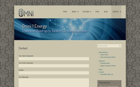 Screenshot of Contact Page omni1energy.com - Contact | Omni 1 Energy - captured Oct. 26, 2014