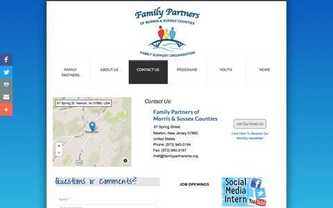 Screenshot of Privacy Page Contact Page familypartnersms.org - Contact Us - captured Oct. 13, 2017