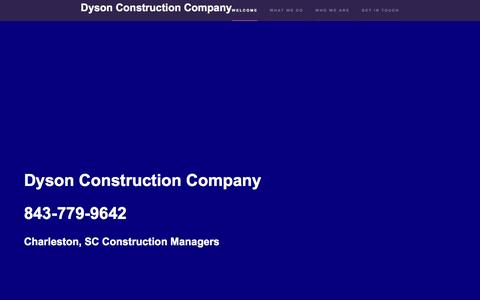 Screenshot of Home Page dysonconstructioncompany.com - Dyson Construction Company | Hanahan Commercial Builder and Charleston Construction Management - captured Aug. 2, 2016