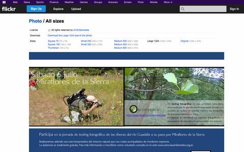 Screenshot of Flickr Page flickr.com - All sizes | cartelddfdf | Flickr - Photo Sharing! - captured Oct. 23, 2014