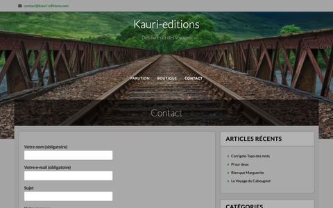 Screenshot of Contact Page kauri-editions.com - Contact – Kauri-editions - captured Oct. 29, 2018