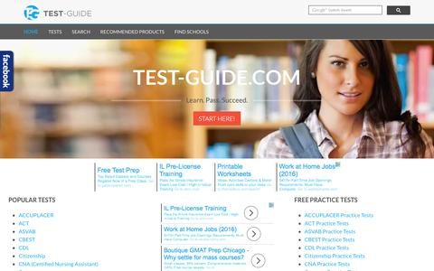 Screenshot of Home Page test-guide.com - Test-Guide.com - Free practice tests and study guides - captured Dec. 4, 2016