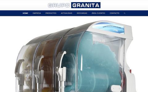 Screenshot of Home Page grupogranita.com - HOME - GRUPO GRANITA - captured July 11, 2017