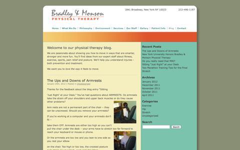 Screenshot of Blog bradleymonson.com - Blog «  Bradley & Monson Physical Therapy - captured Oct. 27, 2014
