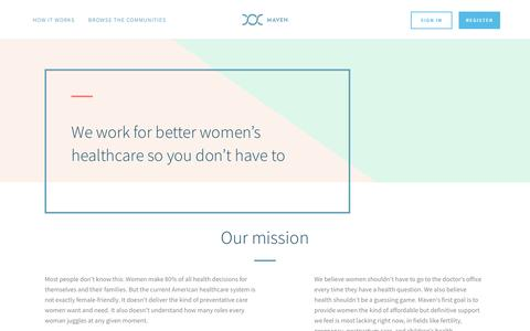 Maven – healthcare designed exclusively for women. Video appointments with MDs, Nurses and Pregnancy specialists, all from your mobile device. | Maven. The Digital Clinic for Women.