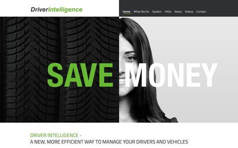Screenshot of Home Page driver-intelligence.com - The comprehensive fleet risk management solution   Driver Intelligence - captured Sept. 12, 2015