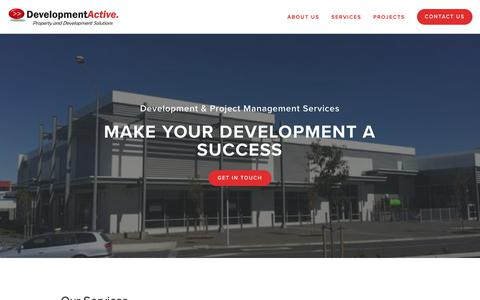 Screenshot of Services Page developmentactive.com - Services — Development Active - captured Nov. 14, 2018