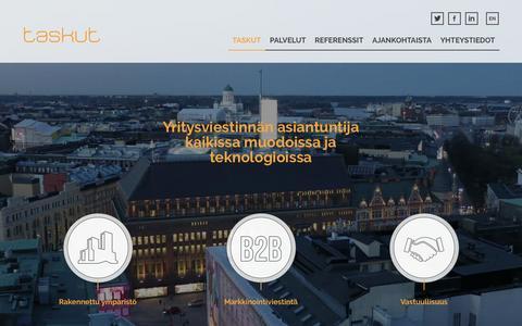 Screenshot of Home Page taskut.fi - Home - Taskut - captured Aug. 17, 2016