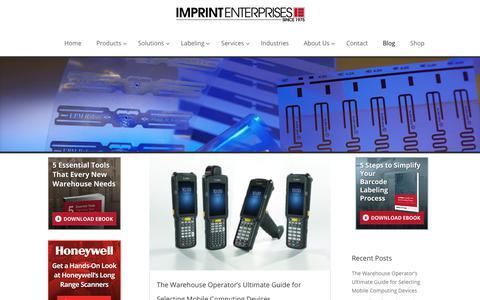 Screenshot of Blog imprint-e.com - Imprint Enterprises Blog - captured Feb. 11, 2018