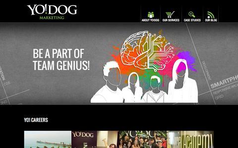 Screenshot of Jobs Page yodogmarketing.com - Careers   Yo!Dog Marketing - captured Sept. 30, 2014