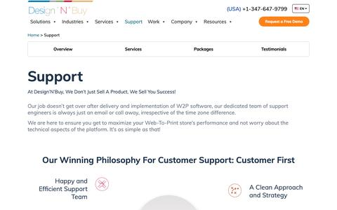 Screenshot of Support Page designnbuy.com - Support Policy | Support Packages  | Design 'N' Buy - captured June 22, 2019