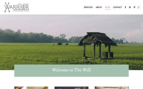 Screenshot of Blog wellheeledwarrior.com - Blog | Well-Heeled Warrior - captured Oct. 20, 2018