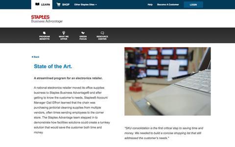 Screenshot of Landing Page staplesadvantage.com - Electronics Retailer - captured April 6, 2016
