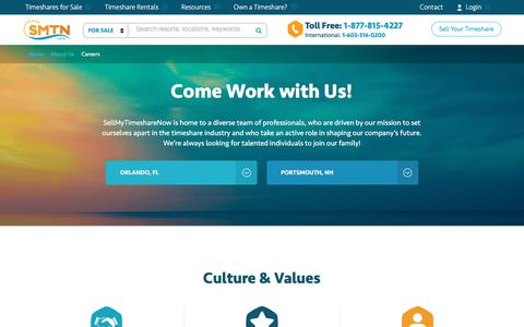 Screenshot of Jobs Page sellmytimesharenow.com - Careers at SellMyTimeshareNow - Sales and Marketing Jobs - captured Sept. 22, 2018