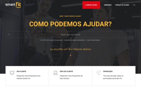 Screenshot of FAQ Page smartfit.com.br - Smart Fit - captured Nov. 8, 2017