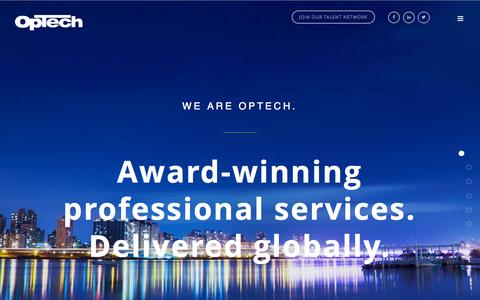 Screenshot of Home Page optechus.com - OpTech - captured Sept. 4, 2015