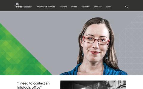 Screenshot of FAQ Page infotools.com - FAQs | Infotools - captured Oct. 2, 2014
