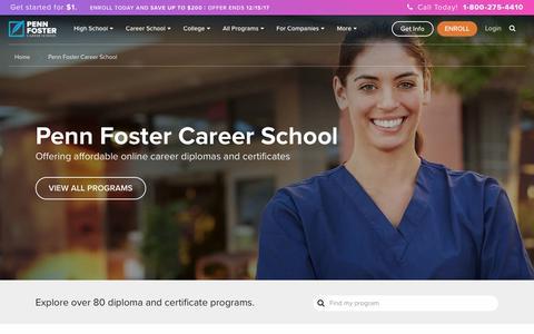 Penn Foster Career School and Online Programs | Penn Foster Career School