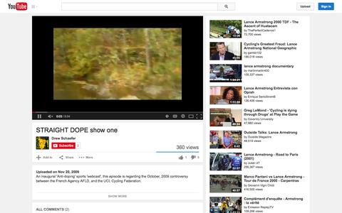 Screenshot of YouTube Page youtube.com - STRAIGHT DOPE show one - YouTube - captured Oct. 26, 2014